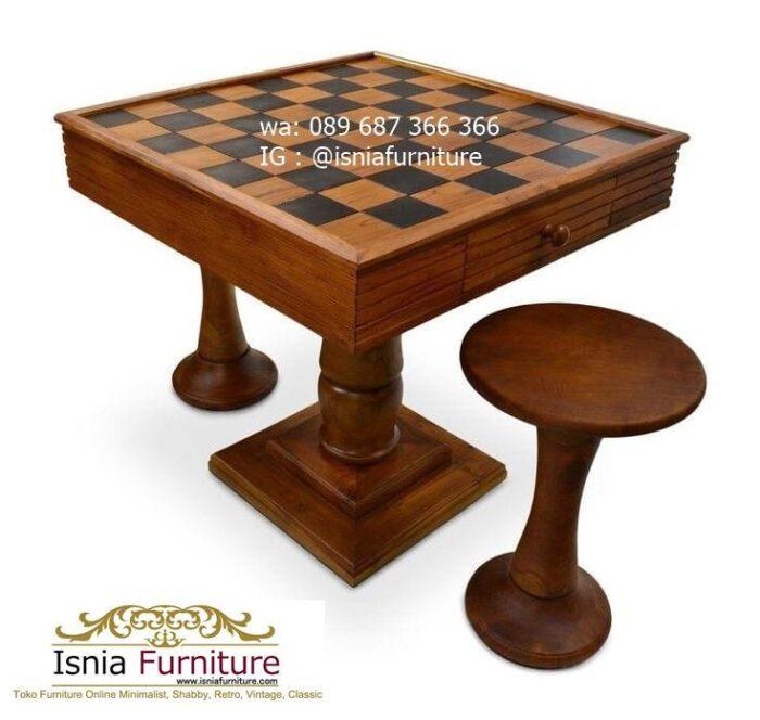 meja-papan-catur-jati-desain-unik-model-terbaru-700x664 Meja Papan Catur Kayu Jati Minimalis Solid Terlaris