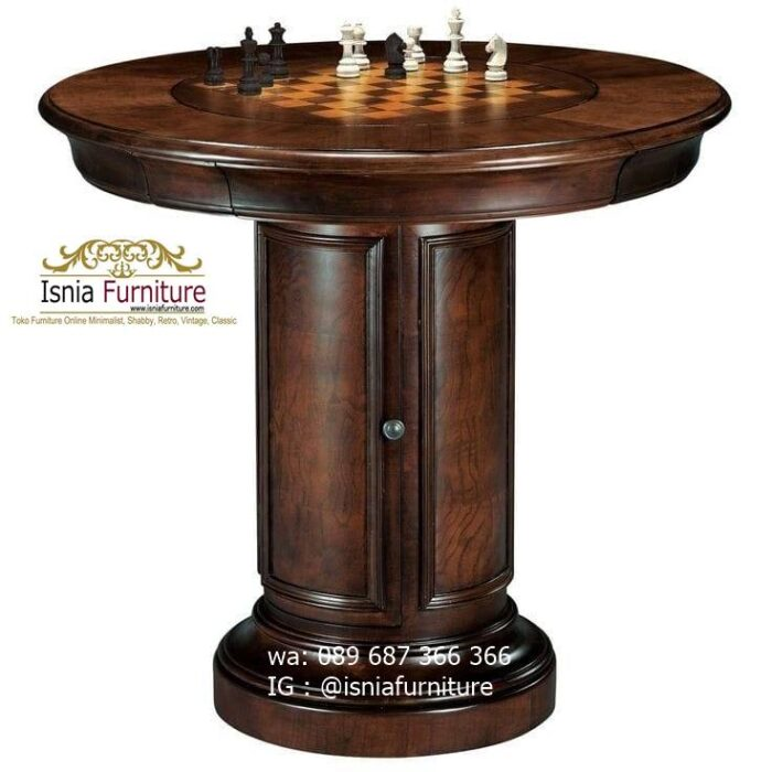 meja-papan-catur-jati-model-bentuk-bulat-terunik-700x700 Meja Papan Catur Kayu Jati Minimalis Solid Terlaris
