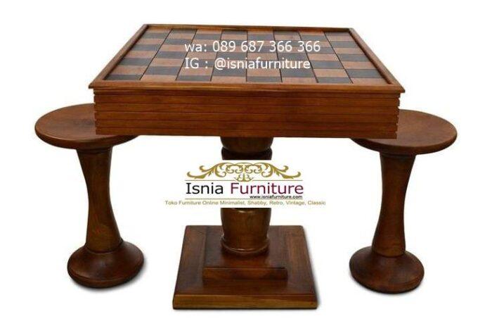 meja-papan-catur-jati-model-set-2-kursi-unik-700x473 Meja Papan Catur Kayu Jati Minimalis Solid Terlaris