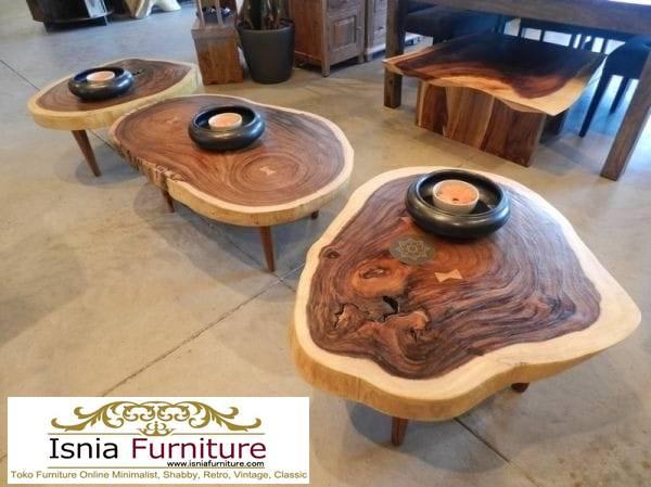 meja-bulat-kayu-trembesi-bentuk-bulat-lesehan-unik Meja Bulat Kayu Trembesi Unik