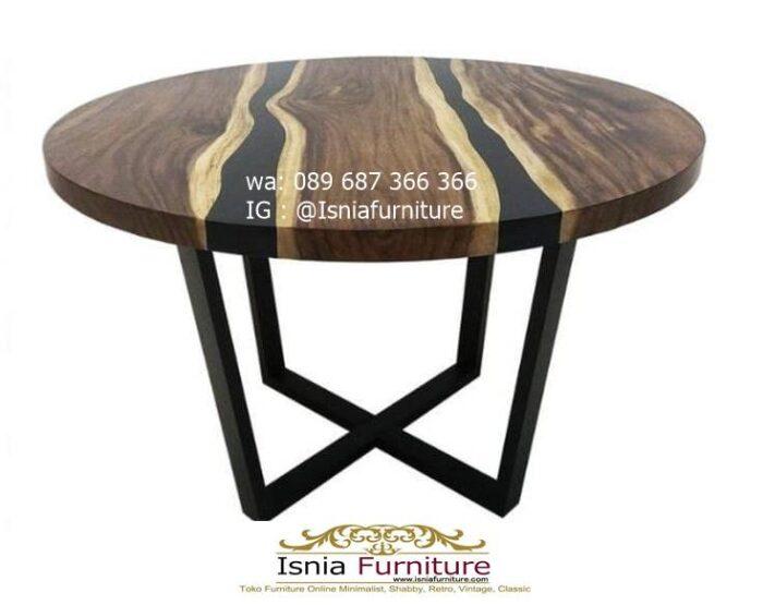 meja-bulat-kayu-trembesi-bentuk-bulat-model-resin-700x555 Meja Bulat Kayu Trembesi Unik
