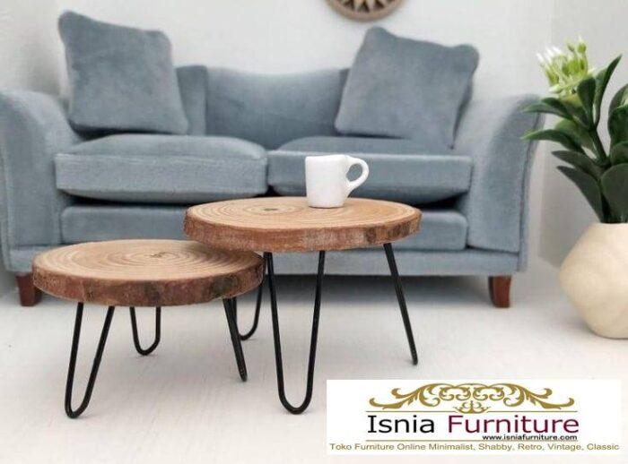 meja-bulat-kayu-trembesi-desain-kaki-besi-unik-700x518 Meja Bulat Kayu Trembesi Unik
