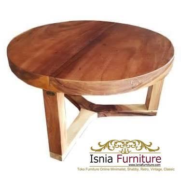 meja-bulat-kayu-trembesi-harga-murah Meja Bulat Kayu Trembesi Unik