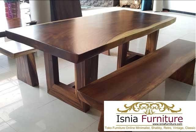 meja-makan-trembesi-akki-kayu Meja Makan Trembesi Bandung Harga Murah