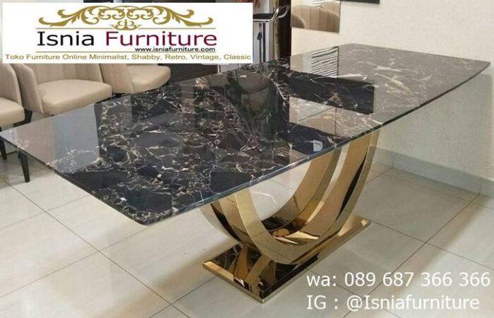 meja-marmer-hitam-kaki-stainless-gold-700x450 Harga Meja Marmer Hitam Murah Minimalis Terlaris