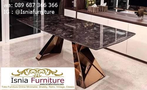 meja-marmer-hitam-kaki-stainless-steel Harga Meja Marmer Hitam Murah Minimalis Terlaris