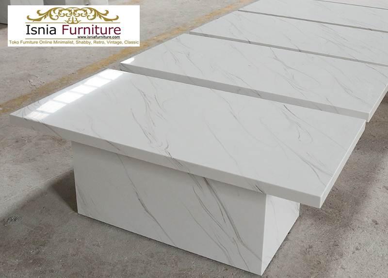 Jual Meja Marmer Putih Model Minimalis Mewah Terlaris
