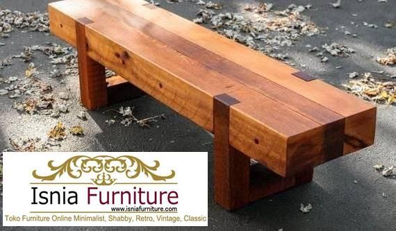 kursi-balok-kayu-jati-model-desain-dari-kaki-kayu Jual Kursi Bangku Balok Kayu Solid Harga Murah