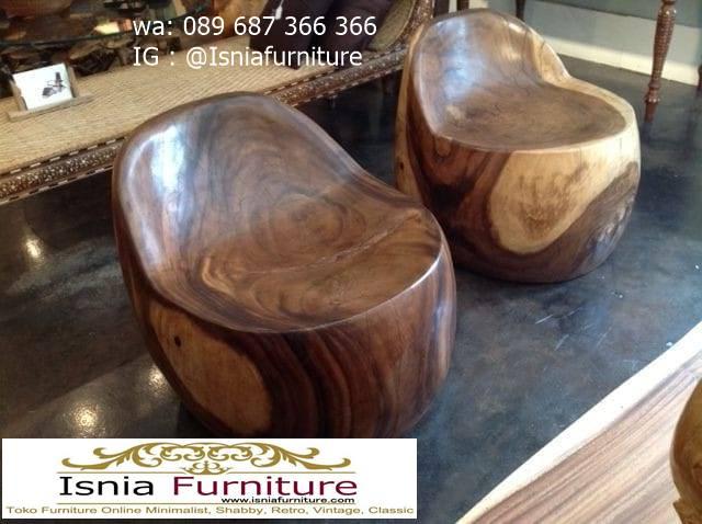 kursi-trembesi-stool-terunik-di-dunia-terlaris Kursi Trembesi Stool Kayu Solid Terunik Bagus