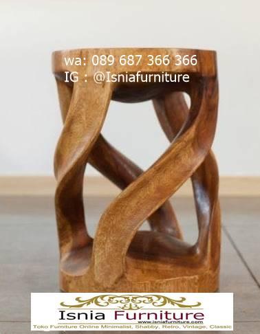 kursi-trembesi-stool-terunik-kayu-solid-utuh Kursi Trembesi Stool Kayu Solid Terunik Bagus