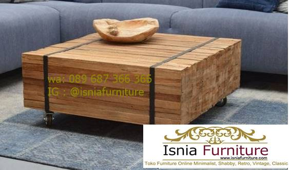 meja-balok-kayu-jati-desain-kaki-roda-unik Meja Balok Kayu Jati