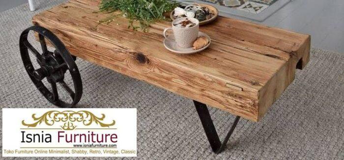 meja-balok-kayu-jati-desain-unik-kaki-roda-700x327 Meja Balok Kayu Jati