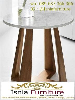 meja-marmer-bulat-bundar-kaki-kayu-unik-murah-berkualitas Kaki Meja Marmer Bulat Bundar Paling Terbaru Murah