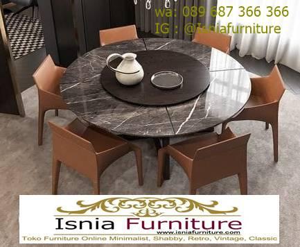 meja-marmer-bulat-bundar-untuk-meja-makan-desain-kaki-besi Kaki Meja Marmer Bulat Bundar Paling Terbaru Murah
