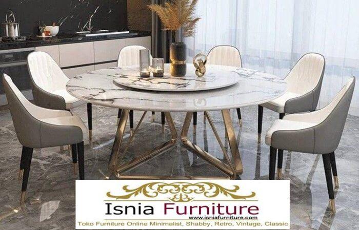 meja-marmer-bundar-untuk-meja-makan-desain-kaki-besi-stainless-700x449 Harga Meja Marmer Bundar Murah Kualitas Terbaik