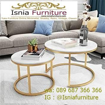 meja-marmer-ruang-tamu-dengan-meja-tamu-marmer-bentuk-bulat Model Meja Marmer Ruang Tamu Harga Murah Berkualitas