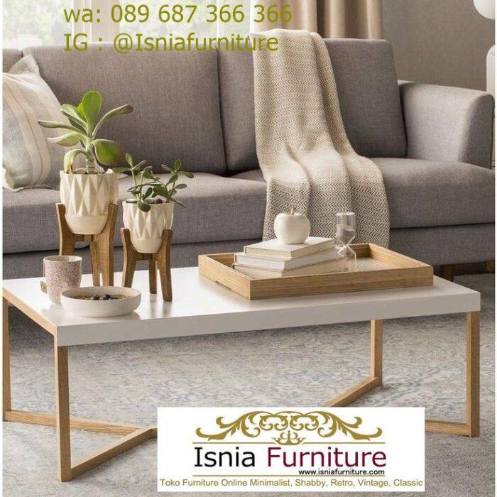 meja-tamu-marmer-minimalis-desain-kaki-kayu-solid-700x700 Jual Meja Tamu Marmer Minimalis Modern Harga Murah