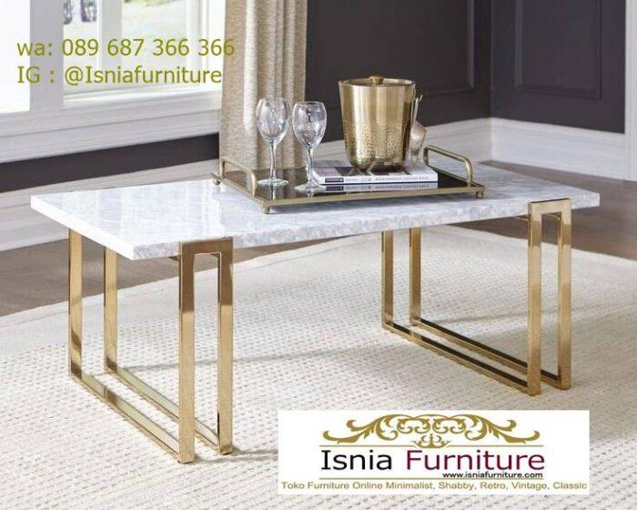 meja-tamu-marmer-minimalis-kaki-stainless-steel-700x560 Jual Meja Tamu Marmer Minimalis Modern Harga Murah