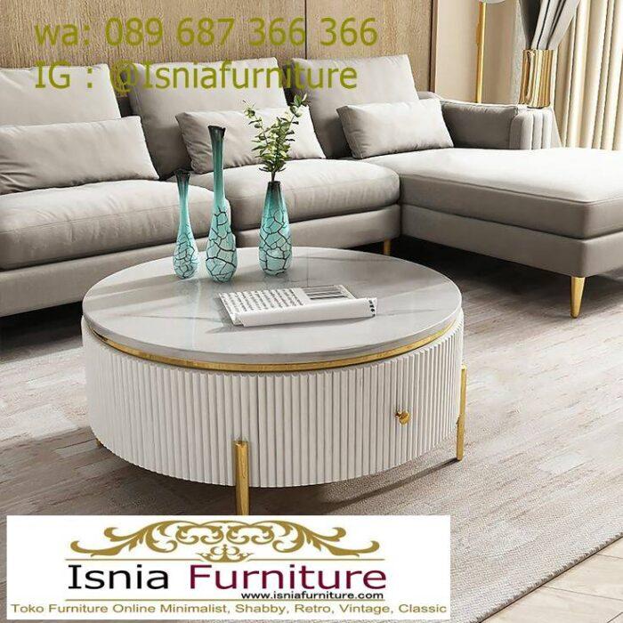 model-meja-marmer-ruang-tamu-bentuk-bulat-minimalis-700x700 Model Meja Marmer Ruang Tamu Harga Murah Berkualitas