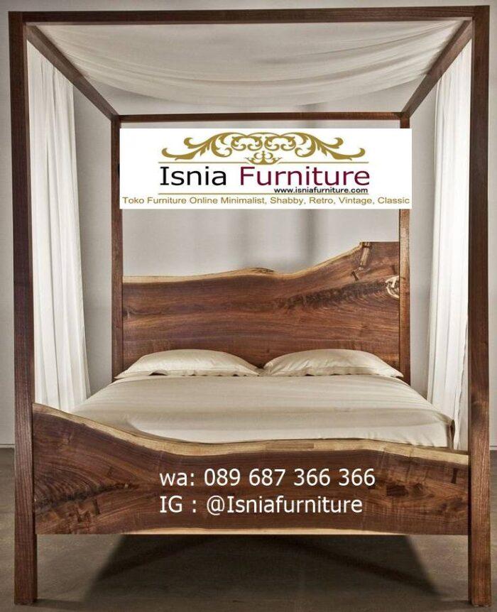 tempat-tidur-kayu-trembesi-model-kanopi-paling-unik-700x862 Tempat Tidur Kayu Trembesi Minimalis Solid Murah