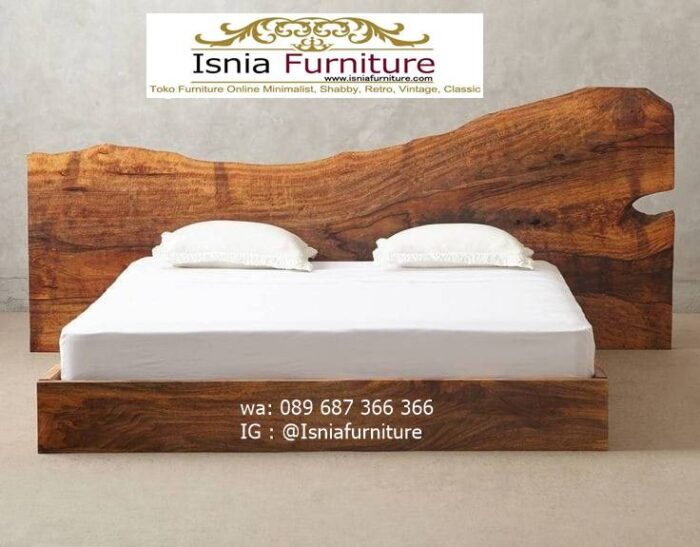 tempat-tidur-kayu-trembesi-model-terbaru-desain-minimalis-unik-700x547 Tempat Tidur Kayu Trembesi Minimalis Solid Murah