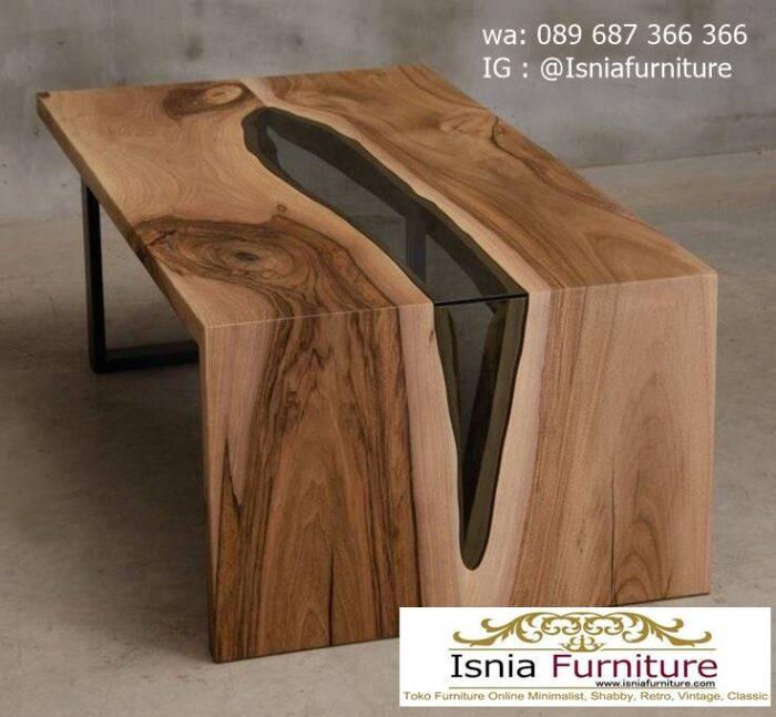 meja-kursi-balok-kayu-trembesi-model-resin-unik-1-700x647 Jual Meja Resin Unik Antik Modern Terlaris Harga Murah