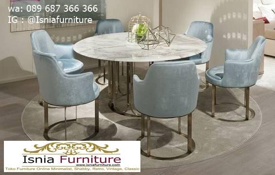 meja-makan-granit-putih-bentuk-bulat-minimalis Harga Meja Makan Granit Putih Minimalis Murah Kekinian