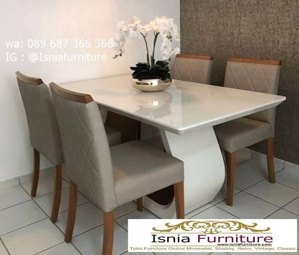 meja-makan-granit-putih-berkualitas-bagus Harga Meja Makan Granit Putih Minimalis Murah Kekinian