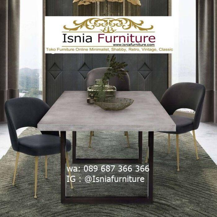 meja-makan-granit-putih-desain-kaki-besi-700x700 Harga Meja Makan Granit Putih Minimalis Murah Kekinian