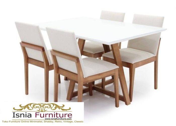 meja-makan-granit-putih-desain-kaki-kayu-solid-terjangkau-700x501 Harga Meja Makan Granit Putih Minimalis Murah Kekinian