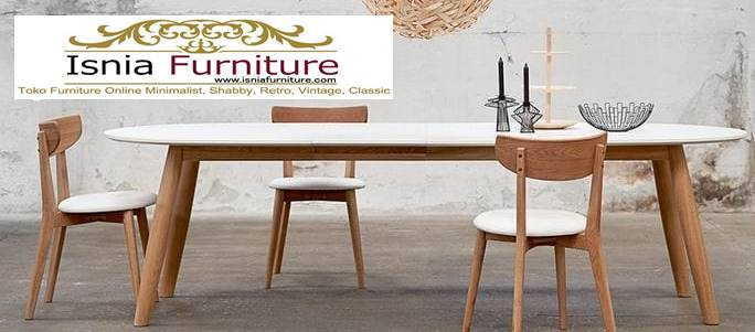 meja-makan-granit-putih-kaki-kayu-solid Harga Meja Makan Granit Putih Minimalis Murah Kekinian