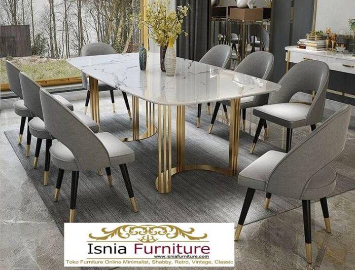 meja-makan-granit-putih-terbaru-harga-terjangkau-desain-kaki-stainless-700x533 Harga Meja Makan Granit Putih Minimalis Murah Kekinian