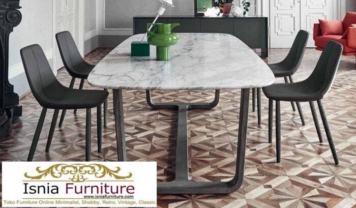 meja-makan-marmer-asli-desain-kaki-besi-minimalis-700x409 Meja Makan Marmer Asli Minimalis Mewah Kekinian
