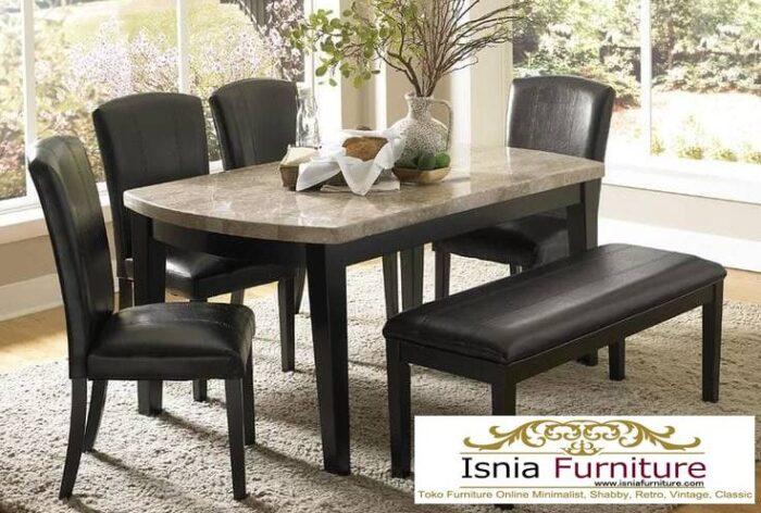 meja-makan-marmer-asli-desain-kaki-kayu-solid-700x472 Meja Makan Marmer Asli Minimalis Mewah Kekinian