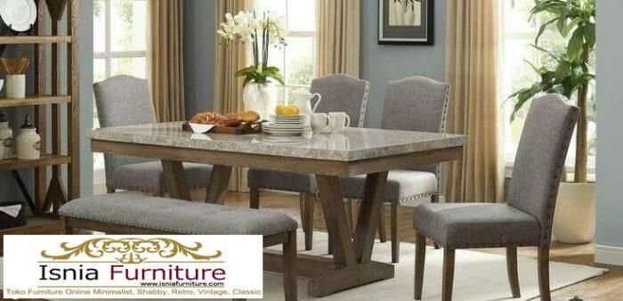 meja-makan-marmer-asli-desain-kaki-kayu-solid-murah-700x338 Meja Makan Marmer Asli Minimalis Mewah Kekinian