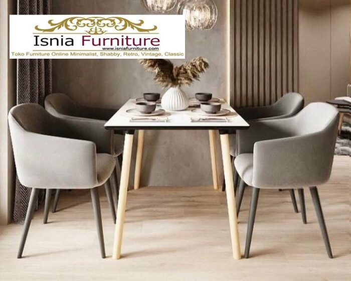 meja-makan-marmer-asli-desain-kaki-kayu-unik-700x560 Meja Makan Marmer Asli Minimalis Mewah Kekinian