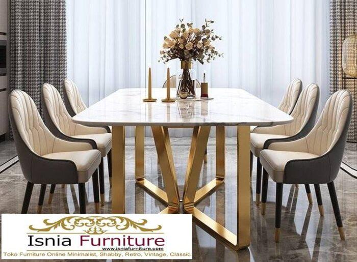 meja-makan-marmer-asli-harga-murah-desain-kaki-stainless-700x515 Meja Makan Marmer Asli Minimalis Mewah Kekinian