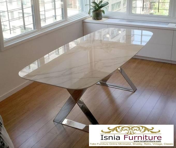 meja-makan-marmer-asli-minimalis-mewah-1 Harga Jual Meja Marmer Besar Modern Murah Terpopuler