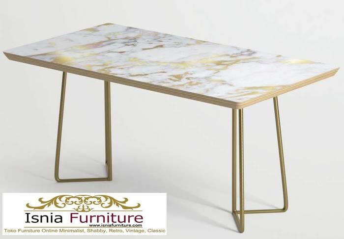 meja-marmer-asli-desain-kaki-besi-stainless-1-700x487 Harga Jual Meja Marmer Besar Modern Murah Terpopuler