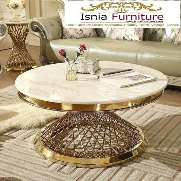 meja-marmer-asli-untuk-meja-tamu-desain-kaki-stainless-mewah-1 Harga Jual Meja Marmer Besar Modern Murah Terpopuler