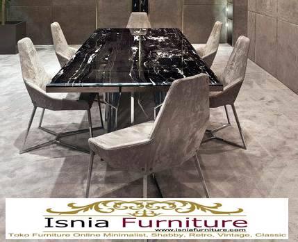 meja-marmer-besar-untuk-meja-makan-desain-marmer-hitam Harga Jual Meja Marmer Besar Modern Murah Terpopuler