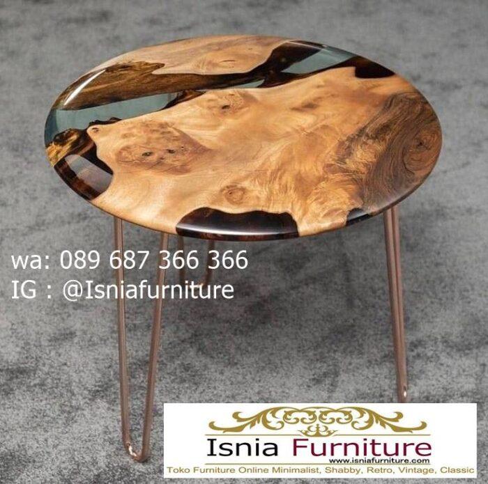 meja-resin-bening-kayu-solid-bentuk-bulat-1-700x695 Jual Meja Resin Bulat Kayu Solid Murah Kekinian