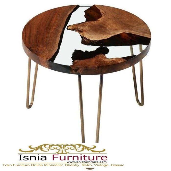 meja-resin-bulat-desain-kaki-besi-minimalis-unik-700x700 Jual Meja Resin Bulat Kayu Solid Murah Kekinian