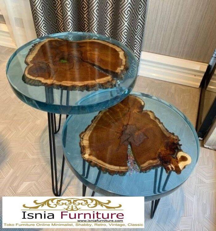 meja-resin-bulat-desain-kaki-besi-minimalis-unik-terlaris-700x748 Jual Meja Resin Bulat Kayu Solid Murah Kekinian