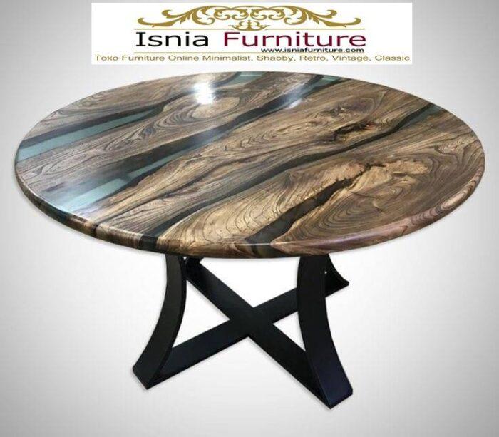 meja-resin-bulat-desain-kaki-besi-murah-700x613 Jual Meja Resin Bulat Kayu Solid Murah Kekinian