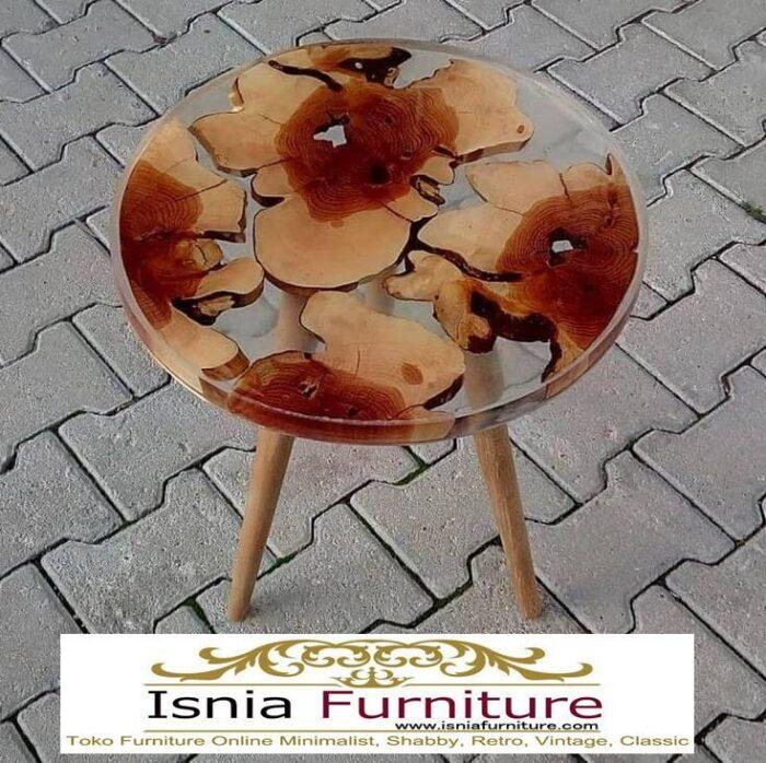 meja-resin-bulat-kayu-solid-minimalis-terbaru-700x698 Jual Meja Resin Bulat Kayu Solid Murah Kekinian