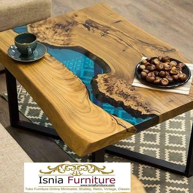 meja-resin-jepara-untuk-meja-tamu-desain-kaki-besi Jual Meja Resin Jepara Kayu Solid Minimalis Modern