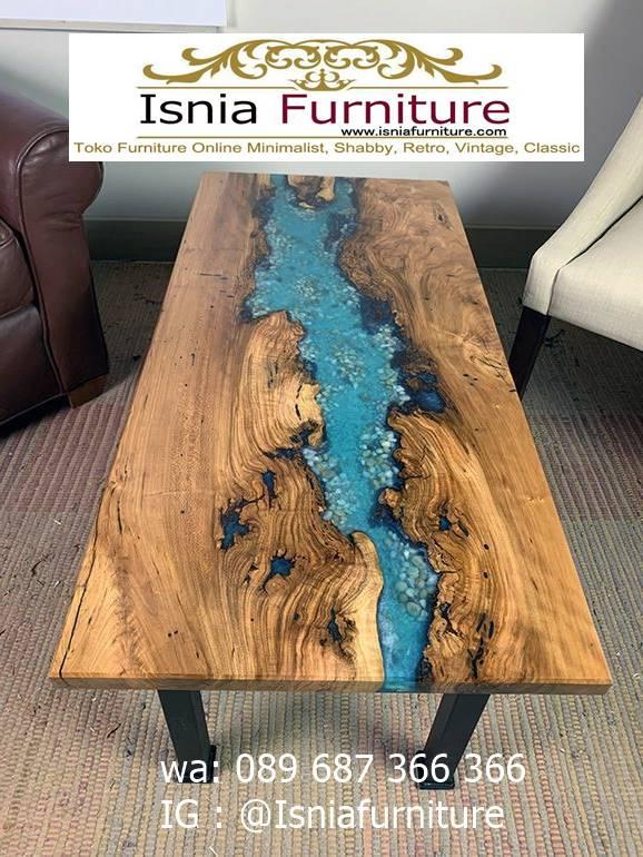 meja-resin-jepara-untuk-meja-tamu-kaki-besi Jual Meja Resin Jepara Kayu Solid Minimalis Modern