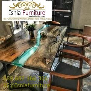 meja-resin-kayu-jati-antik-untuk-meja-makan-terbaru Harga Jual Meja Resin Menyala Murah Terbaru Terlaris