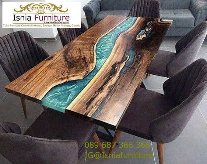 meja-resin-kayu-jati-antik-untuk-meja-makan-terlaris Harga Jual Meja Resin Menyala Murah Terbaru Terlaris